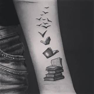 Cool tattoo .. #bookworm #booksandcoffee #tattoo