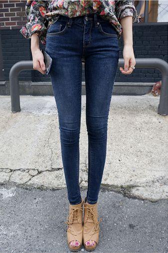 Новые осенние и зимние 2013 корейский Торговые узкие джинсы носить белые женщина была тонкий карандаш брюки ноги штаны # - Taobao