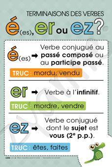 É, ER ou EZ? La Conjugaison, c'est facile ! #SalonEduc15