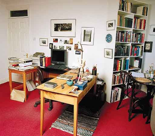 John Banville: My study is a small apartment in a huge, anonymous, quadrilateral block in Dublin city centre. My window, the one I do not look out of, gives on to a courtyard where no one ever goes, and where the silence is day-long and almost pastoral. When I first began to come here to work, a dozen years ago, I used to shut my door on entering each morning and put the chain on. The place is clean, or cleanish, and, yes, well lighted. Here Here I am unassailable. Or so I like to imagine.