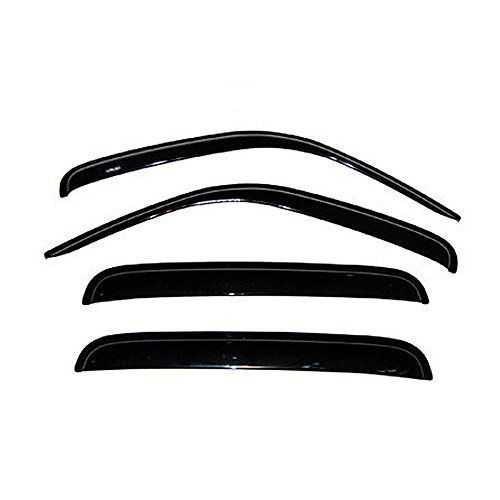 4pcs Front  Rear Car Sun Rain Guard Vent Shade Window Visor Wind Deflector Non In Channel for 20022007 Jeep Liberty -- Read more at the image link.