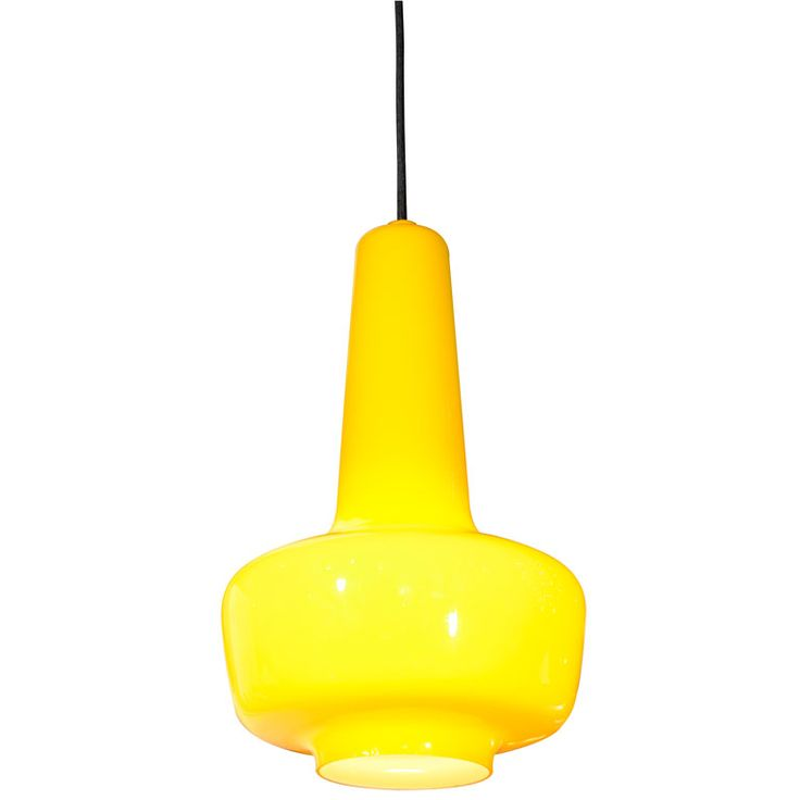 Kastrup Holmegaard, Denmark Pendent Lamp Yellow Carnaby Glass, Denmark, c. 1960s.