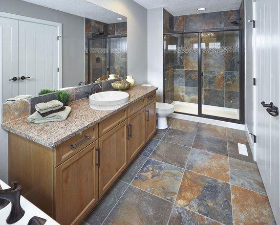 5MM Oil Rubbed Bronze shower door - photo courtesy of Parkwood Builders