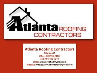 Tips To Choose Best Atlanta Roofing Company