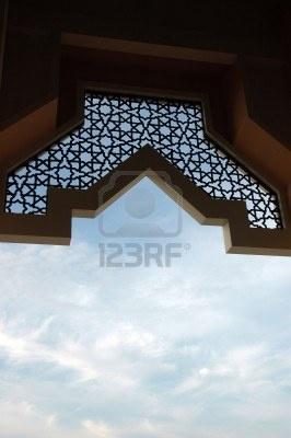ornament at mosque Baitul Izzah in Tarakan Indonesia Stock Photo