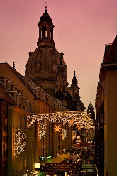 Christmas market in Dresden, Germany  | repinned by www.mybestgermanrecipes.com