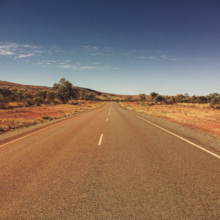 Tom Price, Western Australia - red dusty roads and blue sky