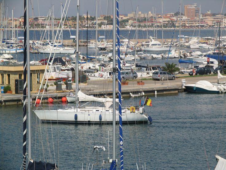 View of the port of Alghero - Sardinia