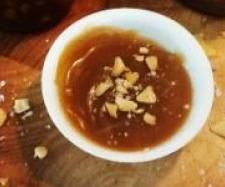 Salted caramel and macadamia sauce