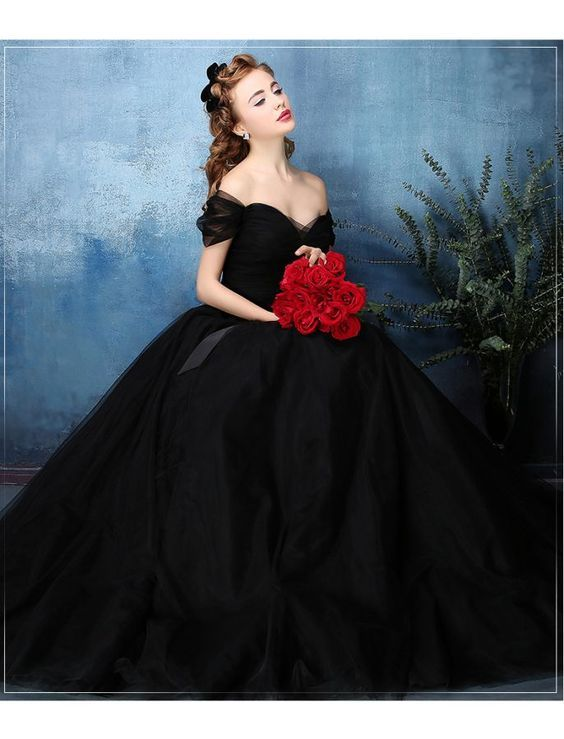 Modest Quinceanera Dress,Black Ball Gown,Fashion Prom Dress,Sexy Party Dress,Custom Made Evening Dress