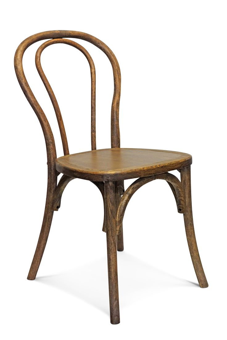 BENTWOOD The provincial Bentwood chair is a classic french design.  With a rustic finish and timeless rounded lines, this chair is popular for wedding seating and event seating.