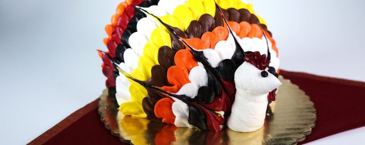 No, this tasty dessert doesn't contain any turkey...it's just shaped like one!