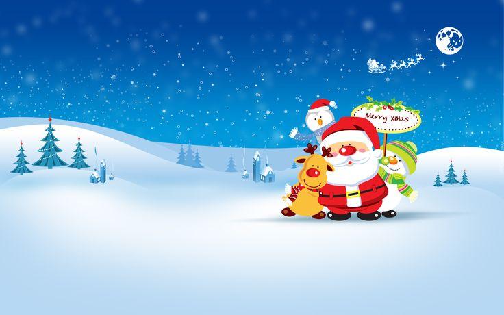 Mikołaj, Renifer, Bałwan, Śnieg