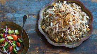 Lebanese chicken and rice (riz ala' dajaj)