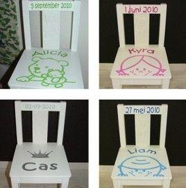 Geboortestoeltje jongen of meisje | Geboorte stoeltjes, spiegels, bewaardozen... | Trendy Kinderkamer