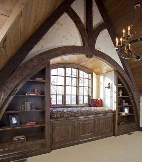 There only flaw with this otherwise stunning room is there needs to be more books on the shelves!