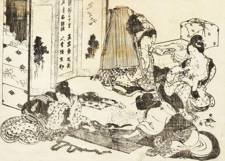 155 best images about Katsushika Hokusai (1760-1849) on ... Hokusai Woman