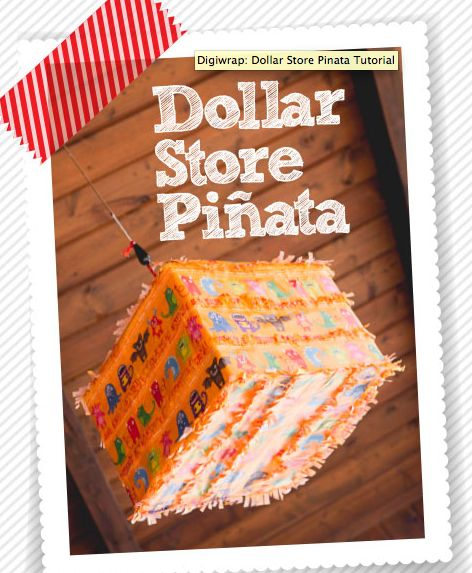 You'll be amazed at what you can do with just some scissors, tape, and a pre-made dollar store piñata!