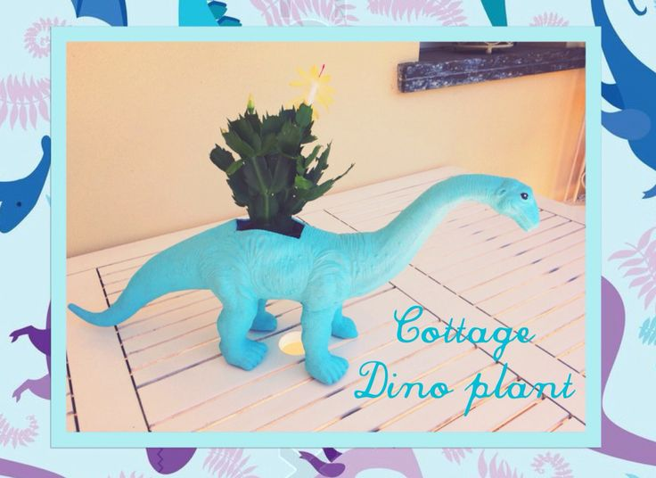 #portavasi #cottage #dinosauro #garden
