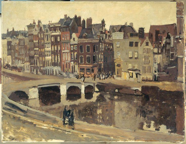 G.H. Breitner . Het Rokin te Amsterdam. 1897.