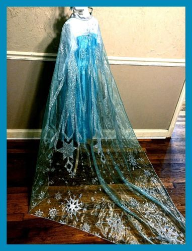 Frozen-Inspired-Elsa-Snowflake-Print-Organza-Cape-Costume-Ready-Made-5-6-7-8-10