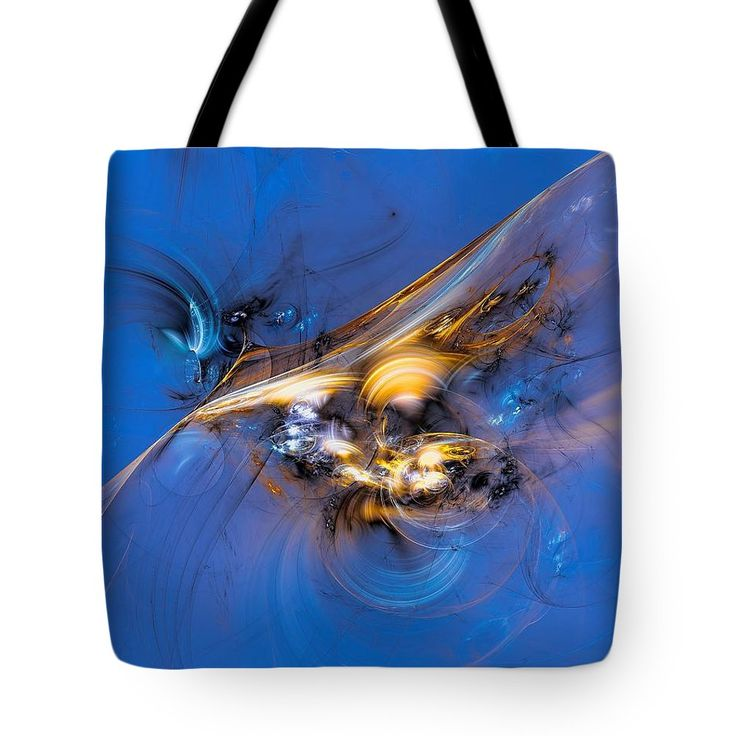 Long Flying Golden Birds Tote Bag by Marfffa Art.  The tote bag is machine washable, available in three different sizes, and includes a black strap for easy carrying on your shoulder.  All totes are available for worldwide shipping and include a money-back guarantee.