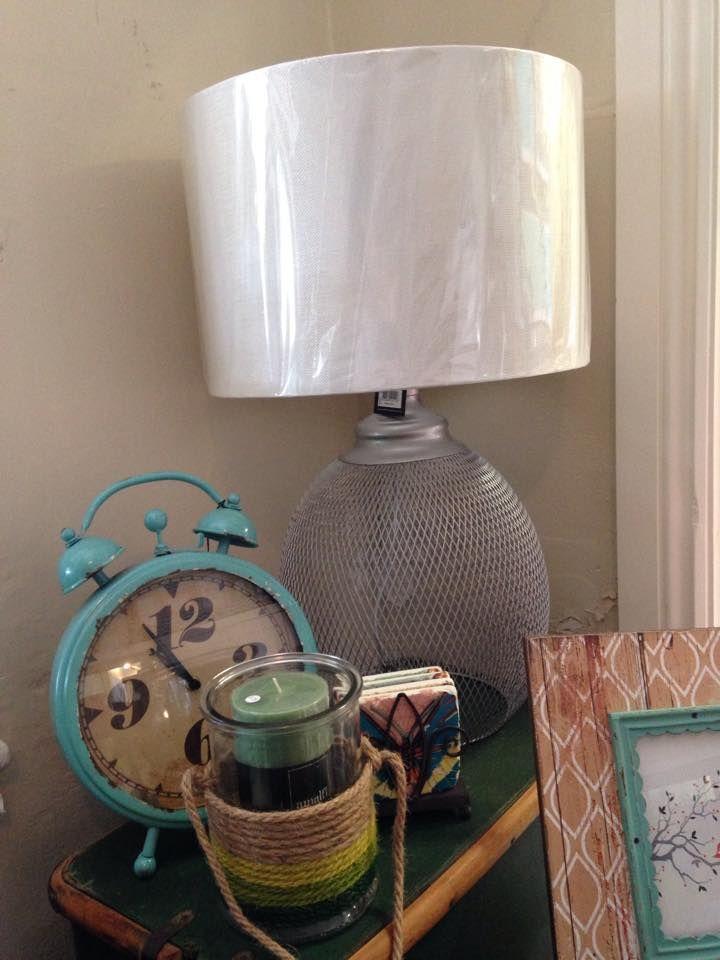 Silver Mesh Lamp