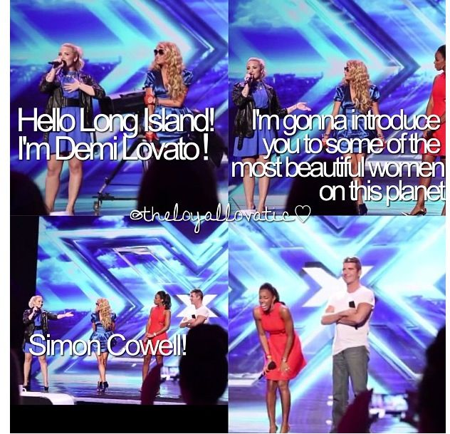 Just funny thing she has said ok the X Factor