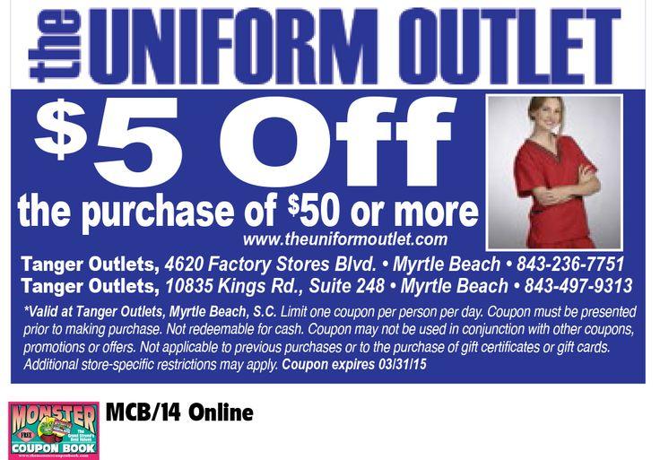 Uniform outlet coupons