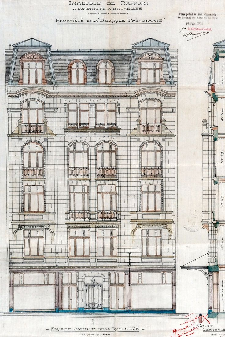 820 best architectural drawings images on pinterest architectural ixelles avenue de la toison dor 16 malvernweather Image collections