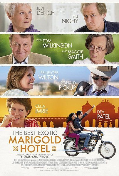 The Best Exotic Marigold Hotel [2012]Film, Hotels 2012, Maggie Smith, Book, Exotic Marigold, John Madden, Favorite Movie, Exoticmarigold, Marigold Hotels