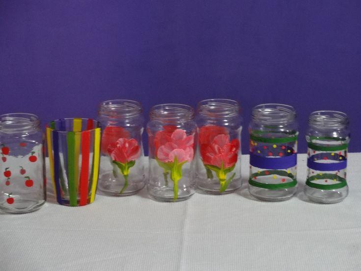 115 best frascos decorados images on pinterest - Frascos de vidrio decorados ...