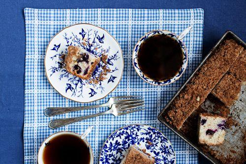 Blueberry Buttermilk Coffee Cake | bsinthekitchen.com #dessert #coffee #bsinthekitchen