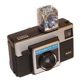 Kodak Instamatic camera using flashcubes and film