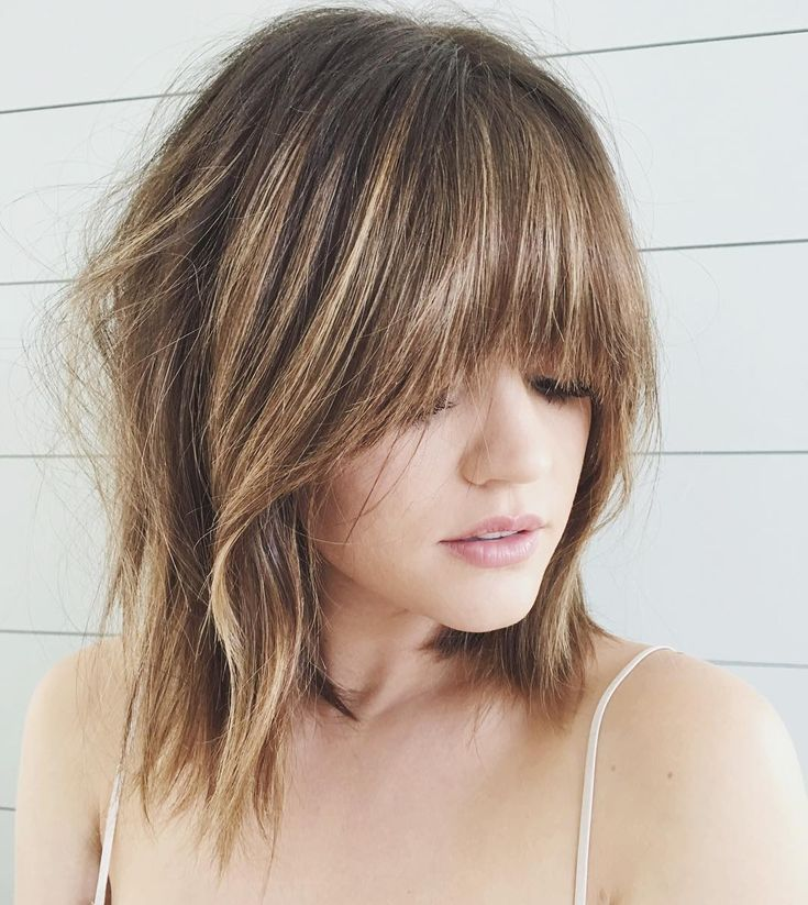 """ kristin_ess MORE. MORE. MORE. Comment ✂️✂️✂️ if you think @lucyhale should get real bangs instead of these fake ones. """