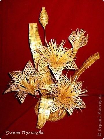 Флористика Плетение Соломенные цветы Соломка фото 2