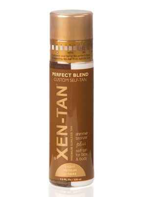 8 Self-Tanners to Try Now - Xen-Tan Perfect Blend Self-Tanner, $43 http://www.cosmopolitan.com/hairstyles-beauty/skin-care-makeup/best-self-tanners#slide-3