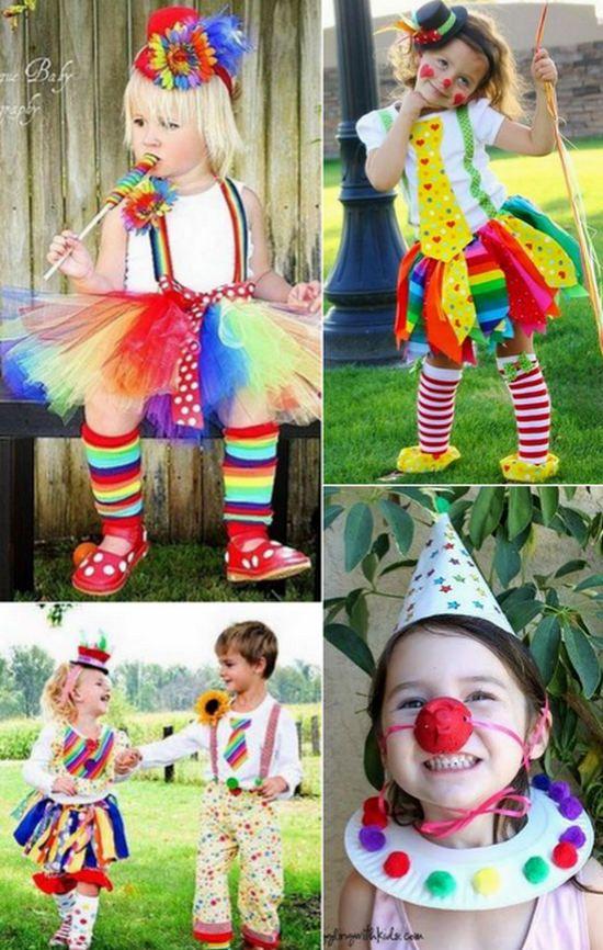 Disfraz de payasa para niñas