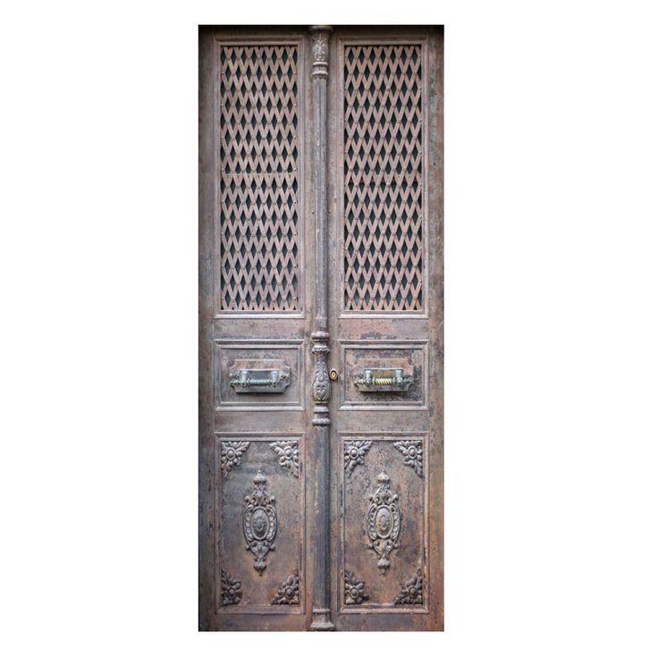 Oude stalen deur stickers om een saaie deur op te pimpen. Gedrukt op mat stickermateriaal, ook afwijkende maten mogelijk. GOEDKOOP DE LEUKSTE DEURSTICKERS
