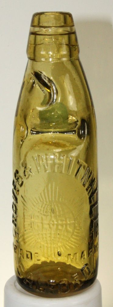 ANTIQUE AMBER CODD OSDA BOTTLE GROVES & WHITNALL SALFORD in Sodas | eBay