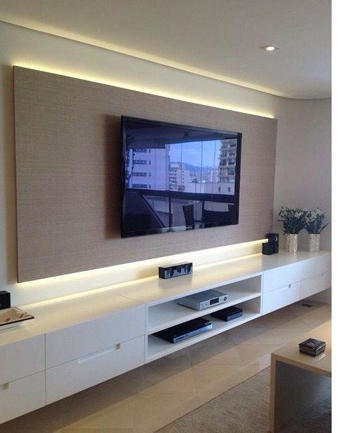 unglaublich  14 TV-Wandhalterungs-Ideen für Wohn- und Schlafzimmer