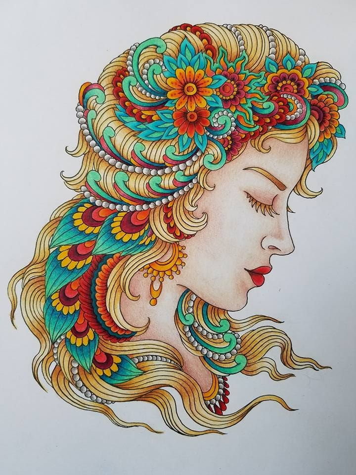 Coloured By Melissa Bradley‎. From Chris Garver's Color Odyssey book. Used prismacolor, Marco Raffine, kohinoor, polychromos and Caran d'ache pencils.