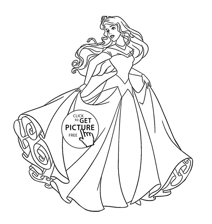 Princess Aurora Dancing Coloring Page For Kids Disney Pages Printables Free