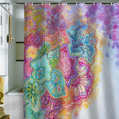 very pretty for a bland bathroom!