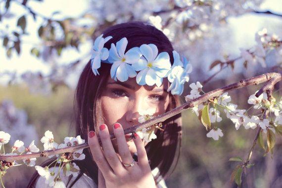 Hawaii Couronne de fleurs de 5 plumerias par dollpoupeeboutique