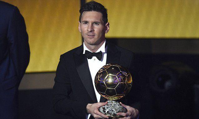 Messi scoops FIFA Ballon d'Or award ahead of Ronaldo and Neymar