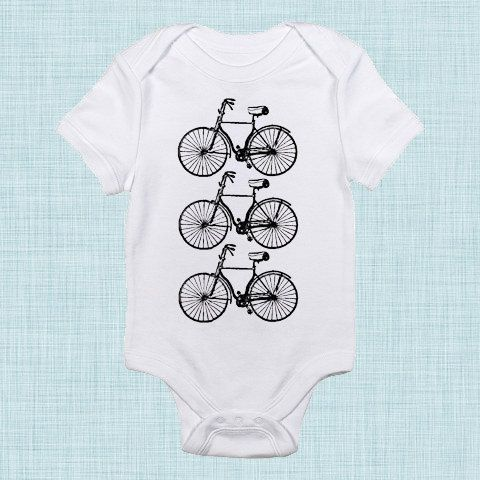 Bicycles, Hipster Baby Clothes, Toddler Shirt, Gender Neutral, Baby Shower Gift