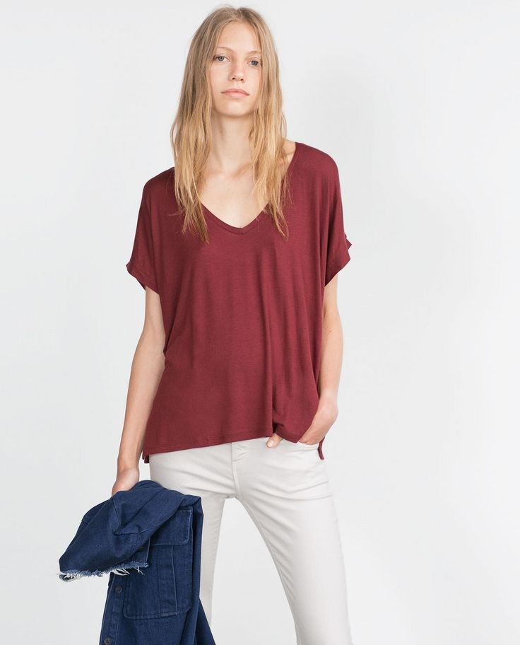 Image 2 of SQUARE CUT T-SHIRT from Zara