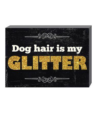 Look what I found on #zulily! 'Glitter' Box Sign #zulilyfinds