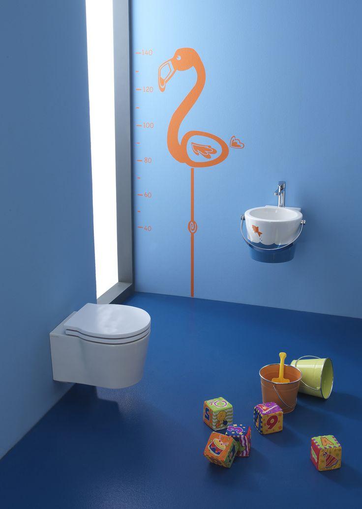 Waschbecken aus Keramik für Kinder Kollektion Bucket by Scarabeo Ceramiche | Design Giovanna Talocci